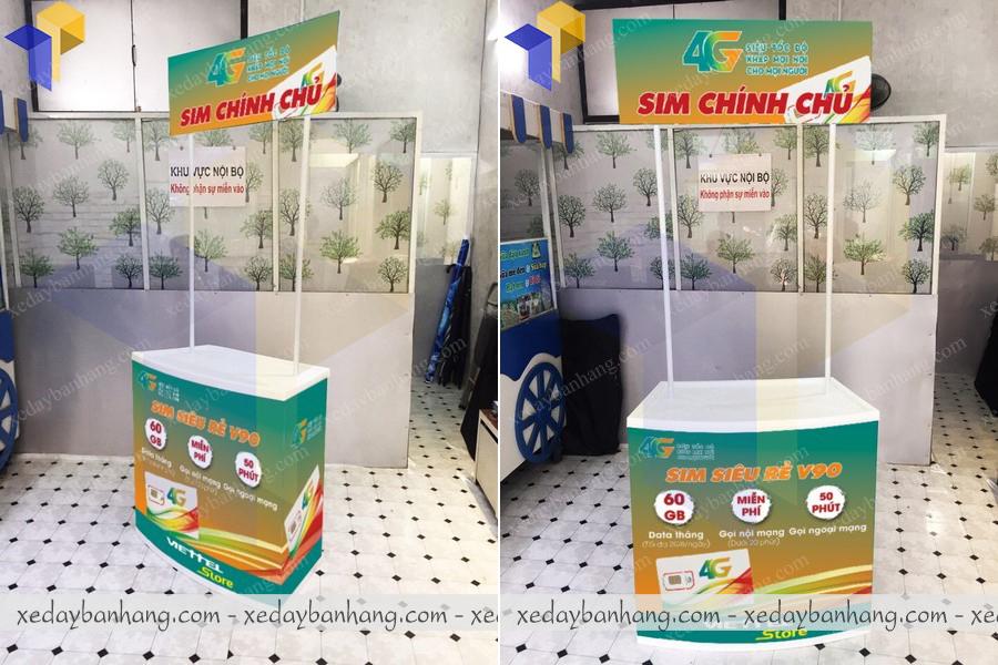 Booth bán hàng nhựa lưu động