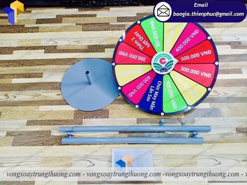 thiết kế vòng quay tổ chức mini game
