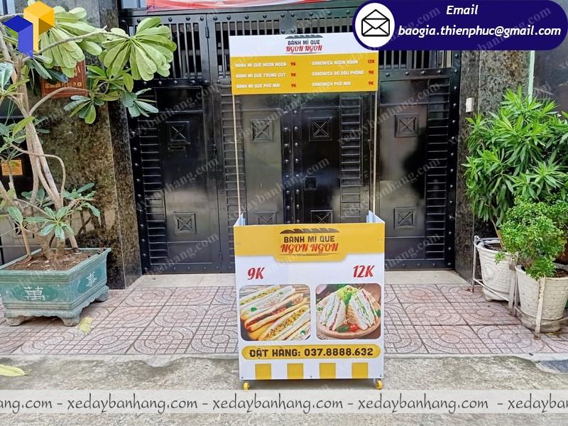xe booth bán bánh mì lắp ráp ở sài gòn